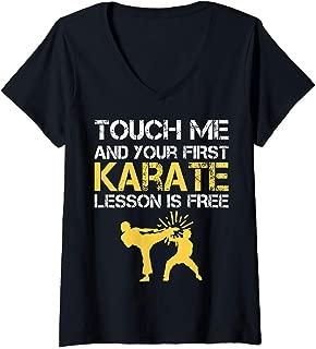 Womens Machida Karate V-Neck T-Shirt