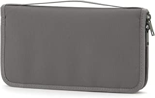 MUJI - Passport Case with Clear Pocket Gray