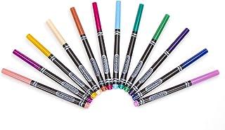 Crayola 古代成人彩色细线笔,现代色彩 Fine (1-Pack of 12)