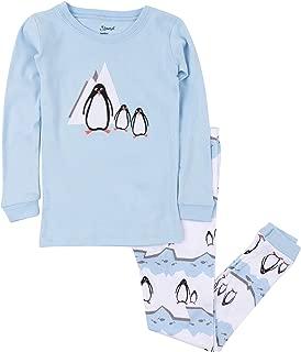 Leveret Kids Pajamas Boys Girls 2 Piece pjs Set Animal Prints 100% Cotton (Size 12 Months-14 Years)