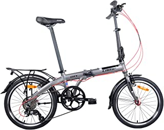 Extra Rack and Fenders Adds 4lb Camp Folding Bike 25lb Shimano 8 Speed 20 Inch City