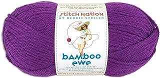 Coats & Clark Stitch Nation Bamboo Ewe Yarn: Grape