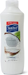 Suave Essentials Nourishing Conditioner for Dry Hair Tropical Coconut with Coconut Extract and Vitamin E for Hair 30 oz