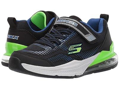 SKECHERS KIDS Gore Strap Sneaker 97743L (Little Kid/Big Kid) (Blue/Black/Lime) Boy