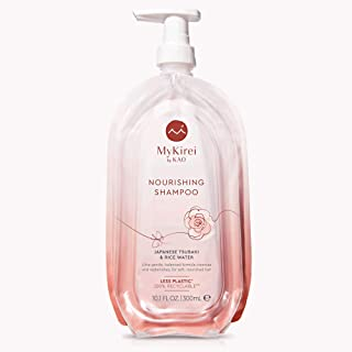 MyKirei By Kao Shampoo with Japanese Tsubaki & Rice Water for Hair, Sustainable Bottle, 10.1 Ounces