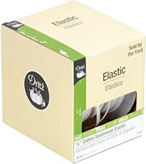Dritz 9485N Cotton Swimwear Braided Elastic, Natural, 1/4-Inch by 75-Yard