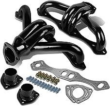 For Chevy Small Block V8 4-1 Design 2pcs Black Coated Stainless Steel Exhaust Header Kit