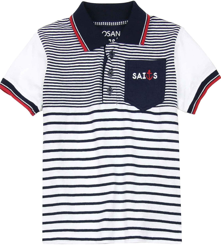 Losan Boys Nautical Striped Polo, Sizes 2-7