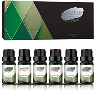 Sponsored Ad - Woody Essential Oils, LamFun Manly Aromatherapy Diffuser Oils Set, Winter Holiday Essential Oils Gift Set, ...