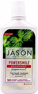 JASON PowerSmile Brightening Peppermint Mouthwash, 16 Ounce Bottles (Pack of 3)