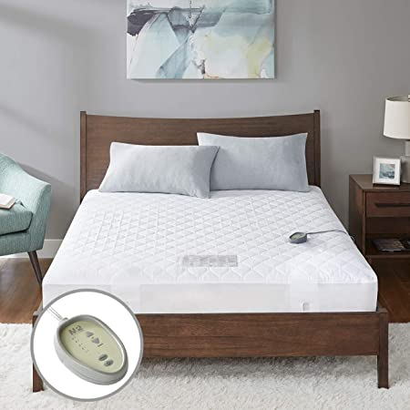 """MP2 Heated Mattress Pad Twin XL Size, Quilted Electric Mattress Pads Fit up to 19"""" with 5 Heat Settings Single Controller and 10 Hours Auto Shut Off, 39"""" x 80"""""""