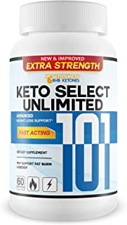 Keto Select Unlimited 101 - Lose More Weight Burn More Fat - Extra Strength BHB Keto Booster - Fast Acting BHB Ketosis Accelerator - Feel The Keto Unlimited Potential with Keto 101 Master Weight Loss