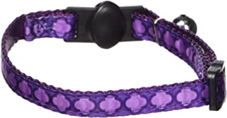 Petmate 11407 Cat Pet Collar, 3/8 by 8 to 12-Inch, Arabesque Purple