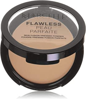 Marcelle Flawless Pressed Powder, Buff Beige, Hypoallergenic and Fragrance-Free, 0.25 oz