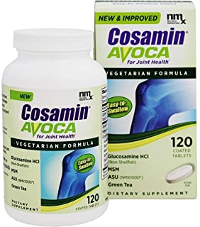 Cosamin Avoca with Glucosamine and MSM Joint Health Supplement, Faster Acting Vegetarian Formula, 120 Tablets
