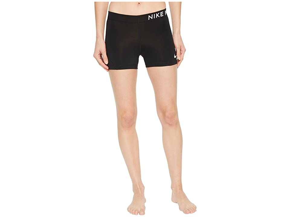 Nike Pro 3 Training Short (Black/White) Women