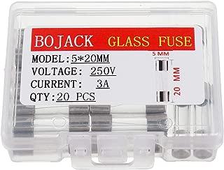 BOJACK 5x20mm 3A 3amp 250V 0.2x0.78 Inch F3AL250V Fast-Blow Glass Fuses(Pack of 20 Pcs)