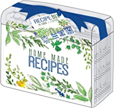 Rosanne Beck Collections Herbs Wildflowers Clear Acrylic Lucite Recipe Box with 10 Recipe Dividers and 20 Recipe Cards