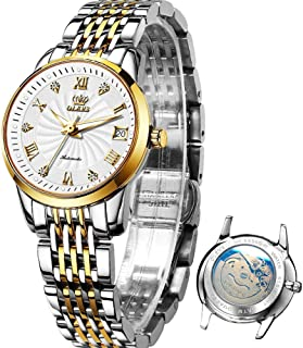 Stainless Steel Automaitc Watches for Womens Ladies...