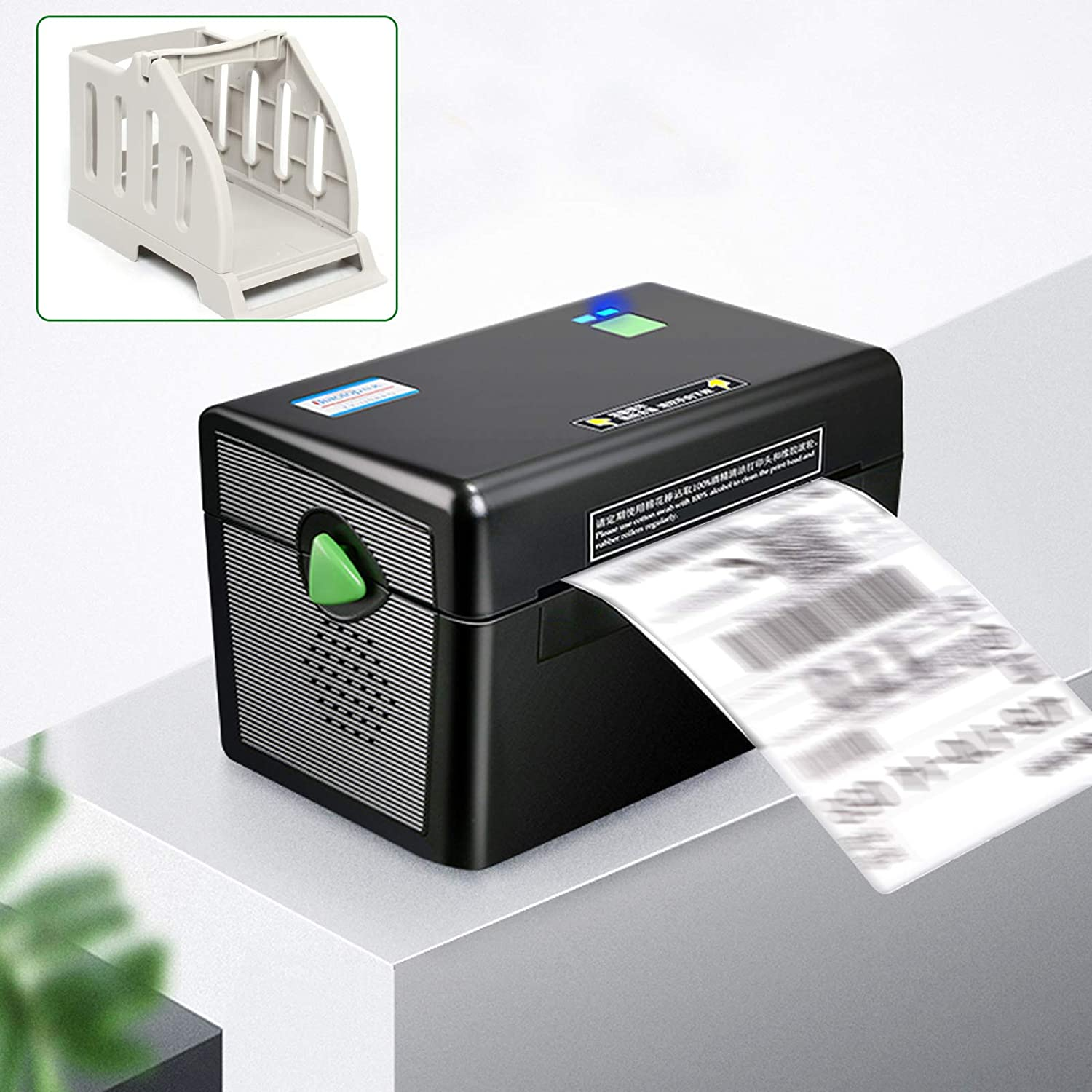 YIYIBYUS Label Printer Portable High Speed Thermal Label Barcode Electric Printer, Label, Filing, Transportation, Mailing, Barcode, Home and Office