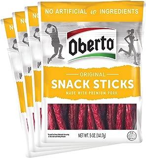 Oberto Original Snack Sticks, 5 Ounce (Pack of 4)