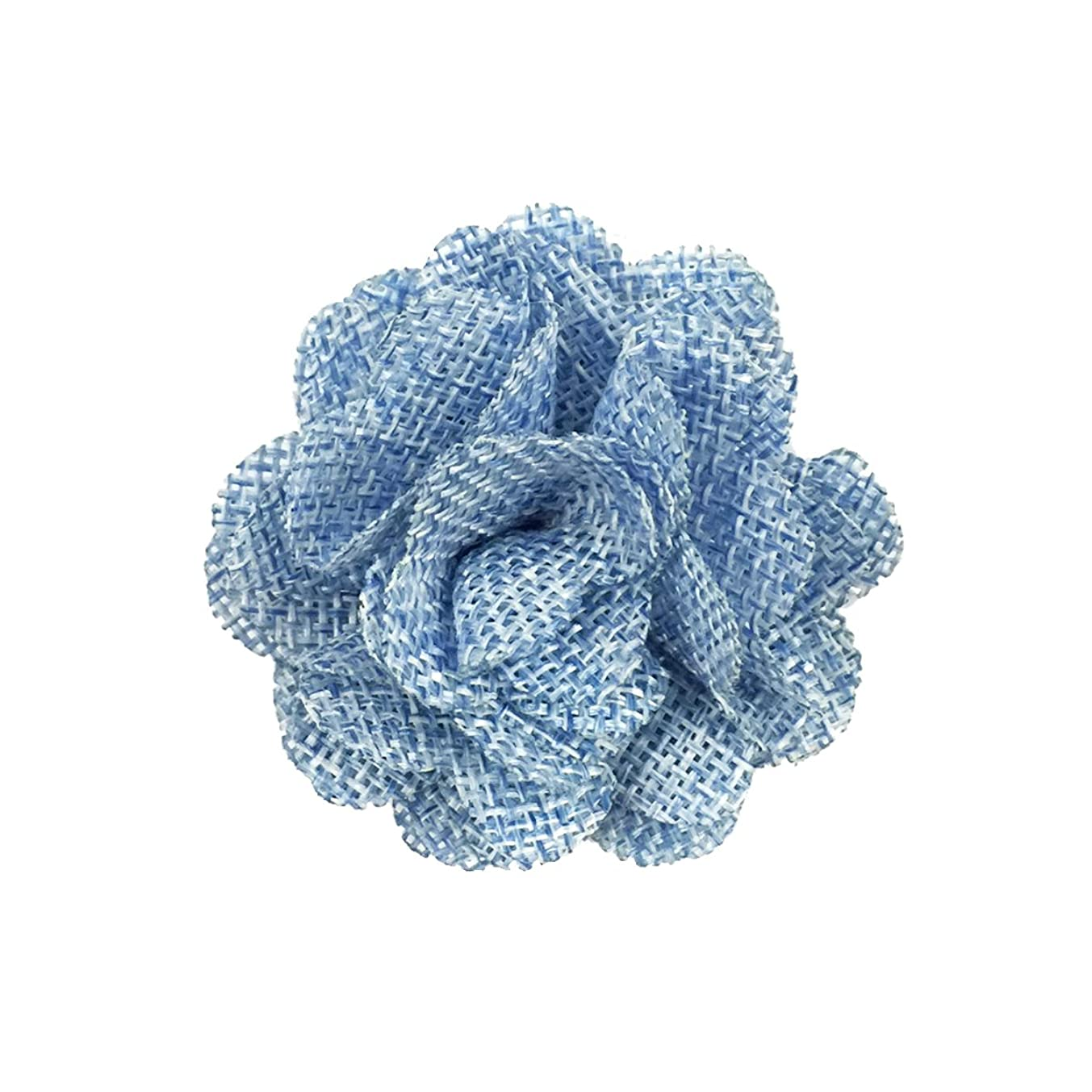 Wrapables Shabby Chic Burlap Rose Flower (Set of 20), Sky Blue