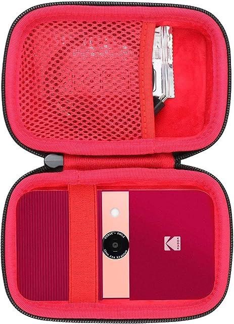 co2CREA Duro Viajar Fundas Caso Cubierta Estuche para Kodak Smile Cámara Digital de impresión instantánea (External BlackInterior Red)