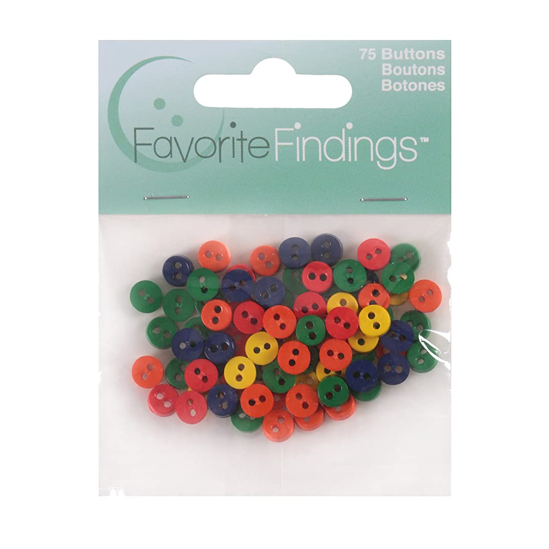 Blumenthal Lansing Favorite Findings Assorted Small Buttons for Arts and Crafts Multicolor 75 Piece