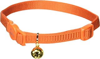 Coastal Pet Products CCP7001SSO Nylon Safe Cat Adjustable Breakaway Collar with Bells, Sunset Orange