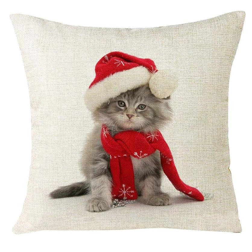 こどもの日道徳の忌避剤ホットセール!!!新しいクリスマスクリスマス猫ソファホーム装飾フェスティバル枕カバークッションカバークリスマス枕ケース、jushye