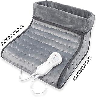 Medisana FW 100 - Calientapiés con masaje de vibración, Calefacción Eléctrica para Pies, 3 Niveles de Temperatura, Desconexión Automática, Protección contra Sobrecalentamiento, Lavable
