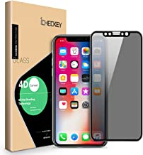 Privacy Screen Protector for iPhone 11 Pro/Xs/X - ICHECKEY 4D Curved Anti-Spy Anti-Peep Full Coverage Tempered Glass Screen Cover for iPhone 11 Pro 2019/XS/X, 5.8 Inch – Black