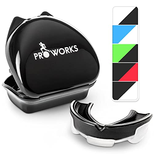 Proworks Impact Resistant Mouth Guard   Protective Gum Shield and Tooth Guard for Boxing, MMA, Rugby, Hockey and Other Contact Sports