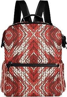 MALPLENA Special Painting Poinsettia Knitting Pattern School Bag Daypack Hiking Backpack