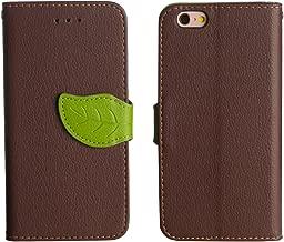 iPhone XR ケース ブラウン 黒 茶 「 Leaf リーフ 」 PUレザー TPU スリム 薄型 ストラップホール ストラップ付 カードホルダー スタンド スピーカーホール 葉っぱ 軽い iPhoneXR,2.ブラウン