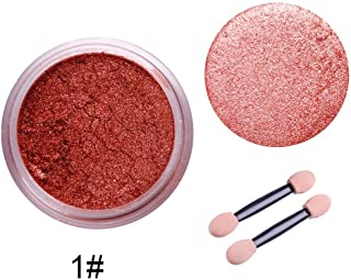 RUNGAO 1G/Box 4 Color Sexy Nail Mirror Powder Glitter Chrome Powder Polish Art DIY Decoration Rose Gold Purple Yellow+Sponge Stick 01#