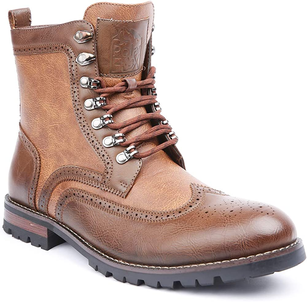 NEW before selling ☆ Polar Fox Cohen MPX808586 Mens Wingtip Boots Combat Super-cheap Motorcycle w