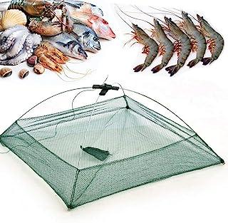 Foldable Crayfish Crab Lobster Shrimp Fishing Trap Bait Pot Dip Nylon Net  !!