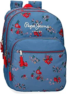 Pepe Jeans Pam Mochila Doble Compartimento Adaptable, Multicolor, 44 cm