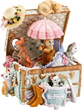 Mr.Winder Cat Music Box Cute Resin Kitty Musical Box Romantic Creative Birthday Gift for Girlfriend Children on Christmas/Birthday/Valentine's Day Castle in The Sky