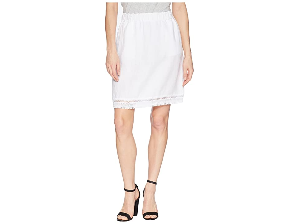Fresh Produce Seaside Lace Trim Skirt (White) Women