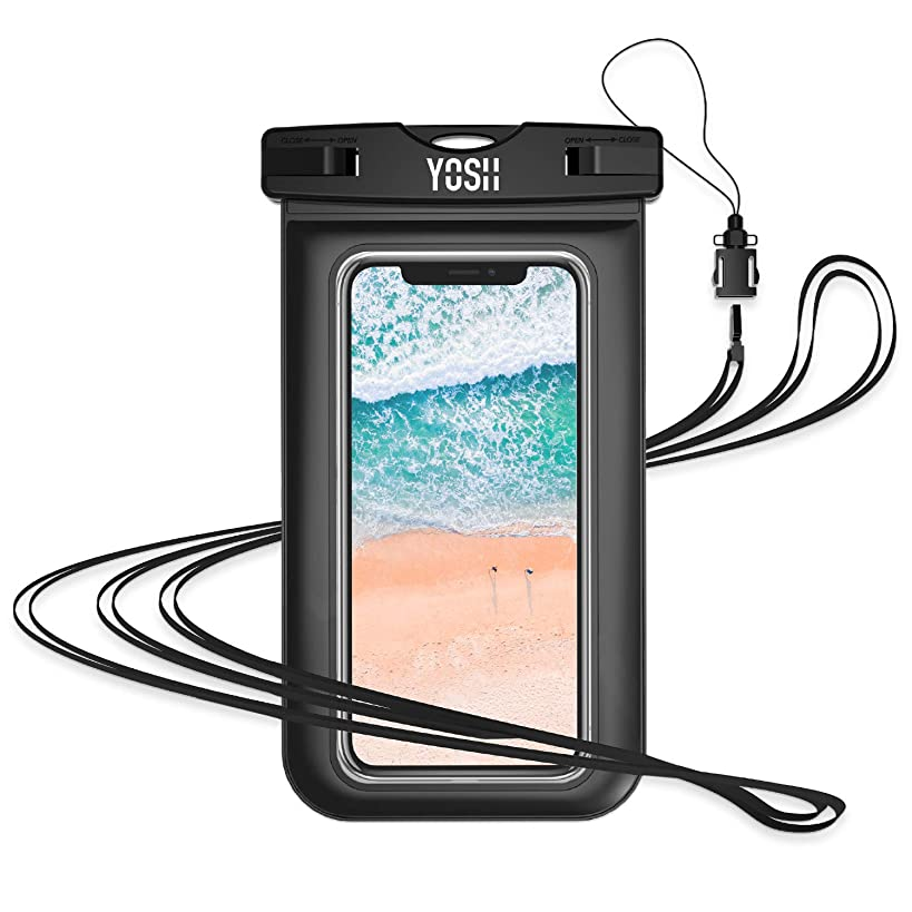 YOSH Waterproof Phone Pouch Waterproof Phone Case Cell Phone Dry Bag Underwater Phone Pouch Waterproof Case Compatible with iPhone XR XS X 8 7 6 6S Plus Samsung Galaxy S9 S8 S7 Pixel 3 2 up to 6.1