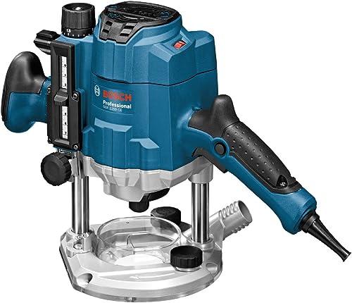 Bosch Professional Défonceuse Filaire GOF 1250 CE (1250 W, régime à vide: 10 000-24000 tr/min, Ø de l'outil: 370x170x...