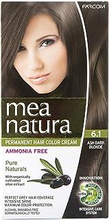 فاركم ميا ناتورا صبغة شعر خالية من الامونيا، 6.1 اشقر غامق رمادي - 60 مل