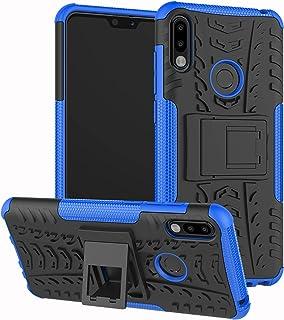 ZB601KL//ZB602KL Mode 3D Motif Marbre Housse Arri/ère 9H Verre Tremp/é Rigide Protection Silicone TPU Souple Bumper Anti Rayures Etui Bleu Poudre M2 Alsoar Coque Compatible avec ASUS Zenfone Max Pro