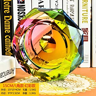 Ashtray, Crystal Glass Ashtray Creative Ornaments Gifts D 'Personalized Business Men' Living Room Coffee Table Decorations