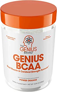 Genius Bcaa Powder with Focus & Energy – Multiuse Natural Vegan Preworkout Bcaas for Mental Clarity and Faster Muscle Reco...