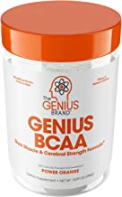Genius Bcaa Powder with Focus & Energy – Multiuse Natural Vegan Preworkout Bcaas for Mental Clarity and Faster Muscle Recovery, Orange, 21sv, 9.95 Ounce, Pack of 1