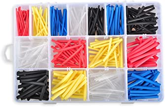 Heat Shrink Tubing Kit, Conwork Assorted 2:1 Heat Shrinking Tube Wire Wrap Cable Sleeve Set (360Pcs, 5 Colors)