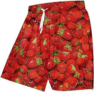 Kurze Hosen Herren Shorts Herren Shorts Lässig Hip Hop Streetwear Erdbeer Obst Board Shorts Mann Kleidung Cool Print 3D Shorts Männer Teenager Jungen